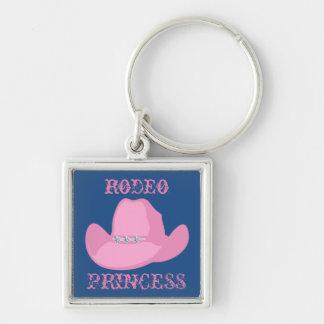 Western-Cowgirl-Rodeo-Prinzessin With Hat Schlüsselanhänger