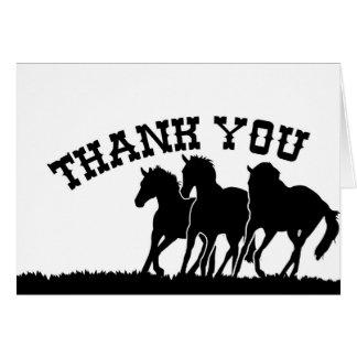 Western danken Ihnen Karte