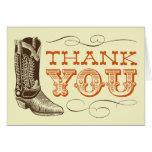 Western danken Ihnen Karten (freier Raum nach inne
