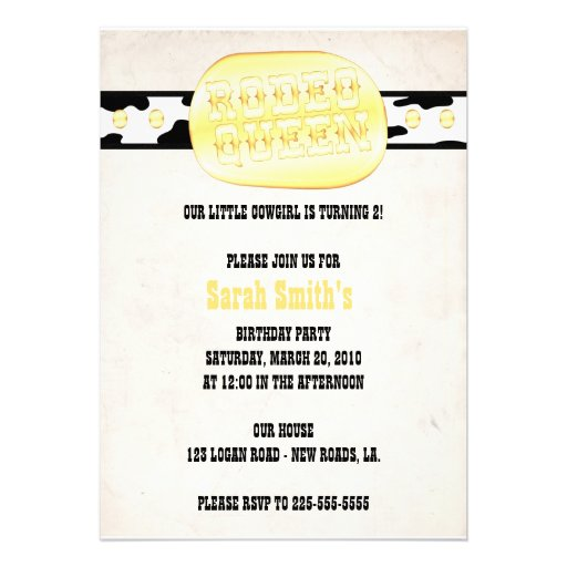 Western-Geburtstag 12,7 X 17,8 Cm Einladungskarte   Zazzle