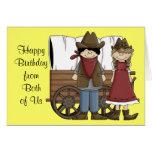 Western-Geburtstags-Wünsche von beiden Grußkarten