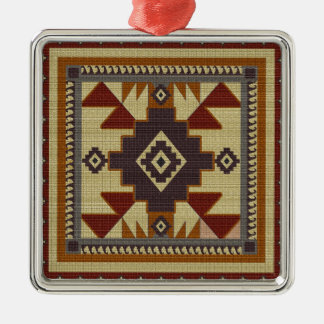 Western gesponnen silbernes ornament