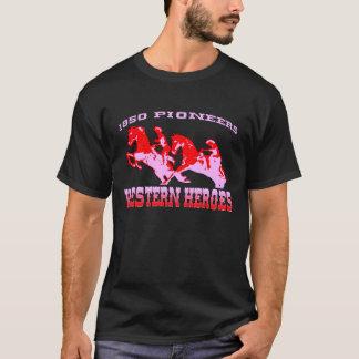Western-Held-Pionier-Schwarz-T - Shirts