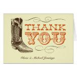 Western-Hochzeit danken Ihnen Karten