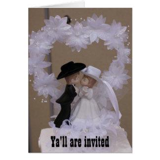 Western-Hochzeits-Einladung Karte