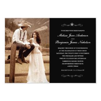 Western-Hochzeits-Foto-Einladungen 12,7 X 17,8 Cm Einladungskarte