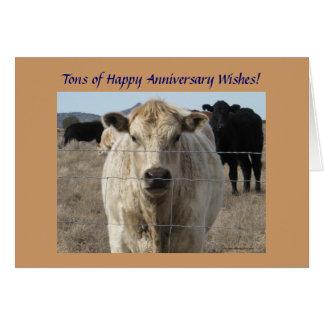 Western-Hochzeits-Jahrestags-Vieh-Herde Karte