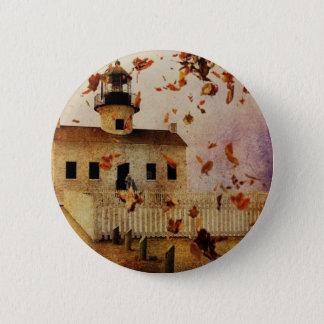 Western-Land-Kirchen-Kapellen-Fall-Herbst-Blätter Runder Button 5,7 Cm