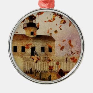 Western-Land-Kirchen-Kapellen-Fall-Herbst-Blätter Silbernes Ornament