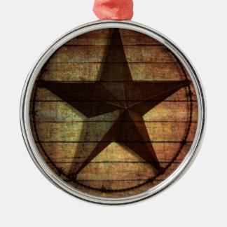 Western-Land-ursprüngliche Scheunen-hölzerner Silbernes Ornament