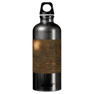 Western-Pferdc$pferdeartig-liebhaber Tier Aluminiumwasserflasche