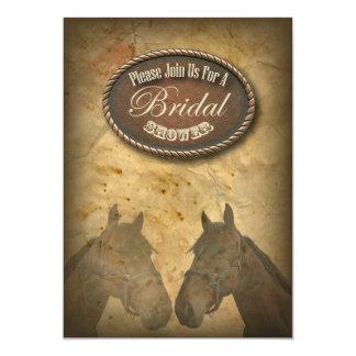 Western-PferdeCowgirls-Brautparty-Einladung