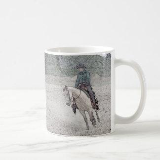 Western-PferdeTasse - Wildleder Kaffeetasse