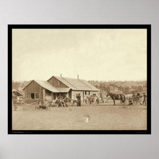 Western-Ranch-Haus Sd 1888 Plakat