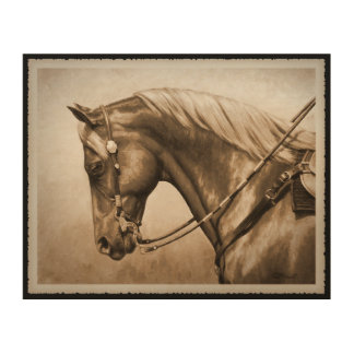 Western-Ranch-Pferdealter FotoSepia Holzleinwände