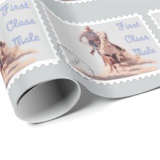 Western-Rodeo-Cowboy-Kalb-Roping Geschenkpapier