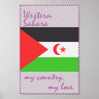 Western Sahara mein Land meine Liebe Poster