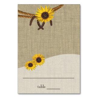 Western-Sonnenblumen und Hufeisen, die Karte