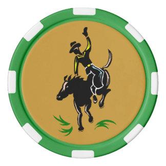 Western-Texas-Griff-EM-Cowboybronc-Poker-Chips Poker Chips
