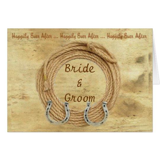 Western-Thema-Hochzeits-Einladung Karte