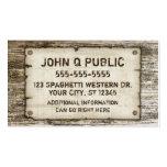 Western-Vintage Geschäfts-Karten Visitenkarte