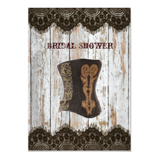 Western-Vintage Korsett-Brautparty-Einladung 12,7 X 17,8 Cm Einladungskarte