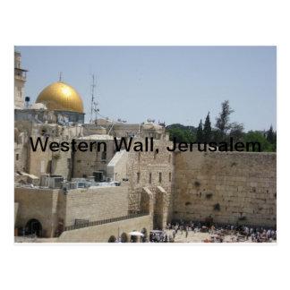 Western-Wand, Jerusalem Postkarte
