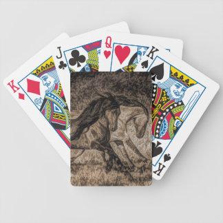 Westerncowboyrodeo, das wilde Pferde galoppiert Bicycle Spielkarten