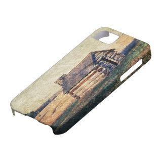 Westernland-Klotzkabine des ländlichen Graslandes Barely There iPhone 5 Hülle