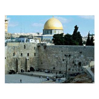 Westernwand mit Haube des Felsens, Jerusalem, Isr Postkarte
