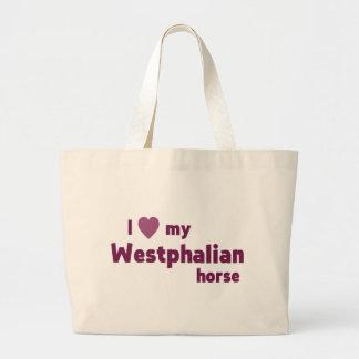 Westfälisches Pferd Leinentaschen