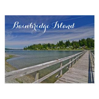 Westhafen Madison auf Bainbridge Insel Postkarte