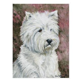 WestHighlland weiße Terrier Hundekunst-Postkarte