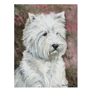 WestHighlland weiße Terrier Hundekunst-Postkarte Postkarte