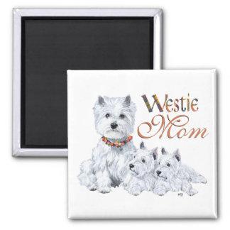 WestHigland weiße Terrier MAMMA Quadratischer Magnet