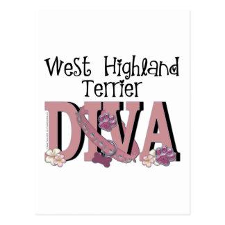 Westhochland-Terrier-DIVA Postkarte