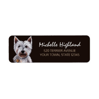 Westhochland-Terrier-Hundepastell-Illustration