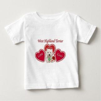 Westhochland-Terrier-Liebe-Umarmungs-Küsse Baby T-shirt