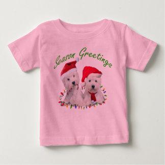 Westhochland-Terrier-Weihnachtskumpel Baby T-shirt