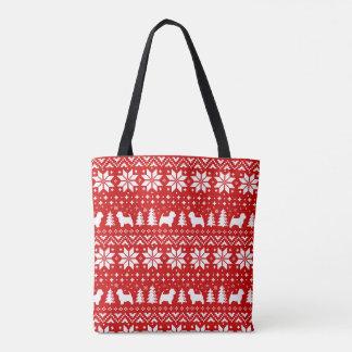 Westhochland-weiße Terrier-Weihnachtsmuster-Rot Tasche