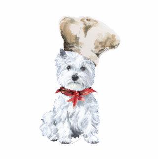 Westhochland-weißer Terrier-Koch Freistehende Fotoskulptur