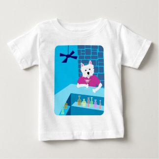 Westhochland-weißer Terrier-Martini-Bar Baby T-shirt