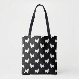 Westhochland-weißer Terrier-Silhouette-Muster Tasche