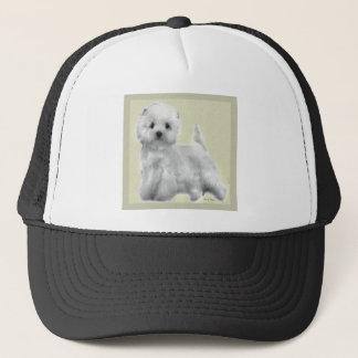 Westhochland-weißes Terrier-Geschenke Truckerkappe