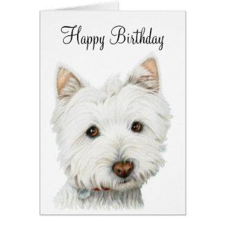 Westhochland-weißes Terrier-Hund Grußkarte