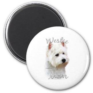 Westhochland-weißes Terrier-Mamma 2 Runder Magnet 5,1 Cm