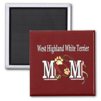 Westhochland-weißes Terrier-Mamma-Geschenke Quadratischer Magnet