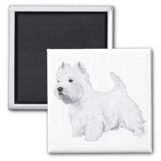 Westhochland weißes Terrier Quadratischer Magnet