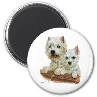 Westhochland weißes Terrier Runder Magnet 5,1 Cm