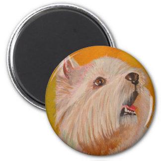 Westhochland weißes Terrier Runder Magnet 5,7 Cm